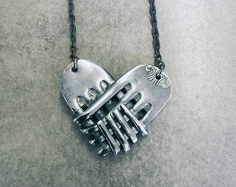 Heart forks necklace