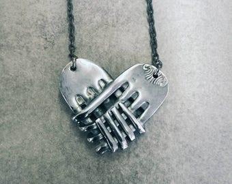 Heart forks necklace