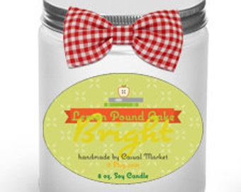 8 oz. Soy Woodwick Candle - Bright Lemon Poundcake
