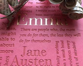 Emma Jane Austen Book Page Flower Hair Clips