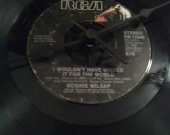 Ronnie Millsap 45 Record Clock - I Wouldn't Have Missed It For The World