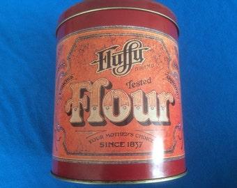 Vintage Flour storage tin