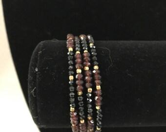 Spaniel and Garnet 2 in 1 Necklaces Bracelet