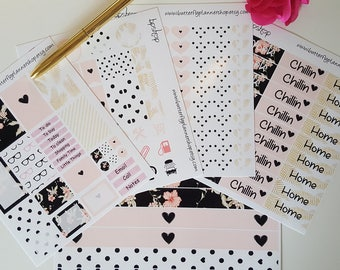 Planner stickers decals set glossy