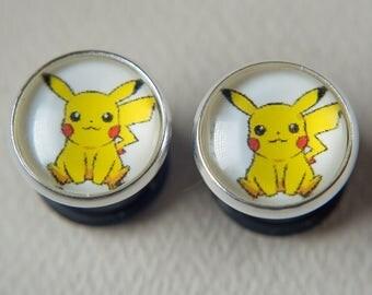 Pokemon ear gauges, pokemon ear plugs, Multiple Sizes