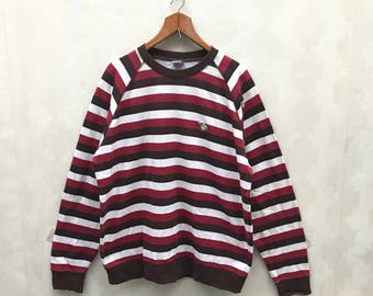 Vintage X-Large Striped Sweatshirt / Large Size Sweatshirt