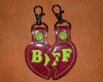 BFF Split Heart Keychains (SET OF 2)