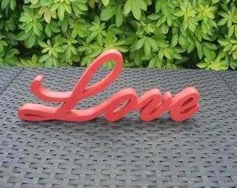 """Word """"Love"""" in wood"""