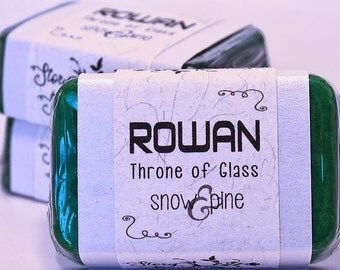 Rowan Whitethorn Throne of Glass Glycerin Soap Bar - Handmade Custom Book Character Scent - Fragrance, Shimmery Emerald Terrasen Green