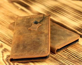 iPhone 6 Plus / 6s Plus Wallet Case - Handmade Genuine Leather