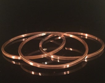 10g Square Copper Bangle