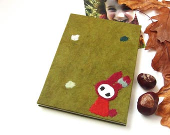 """Accordion Photo Album """"Bunny in the Meadow"""" olive"""