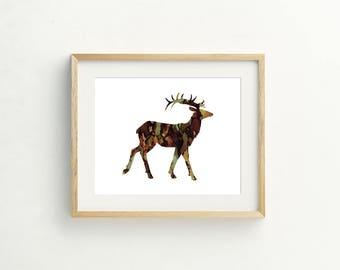 Elk Ink Print