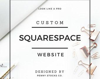 Custom Squarespace Website Design | Photography, Wedding, Blog, Portfolio Web Design | Custom Website Design