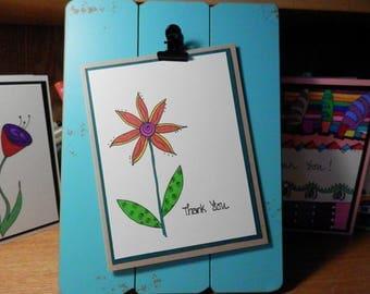 Thank You Card, Greeting Card, Thank You, Handmade Card
