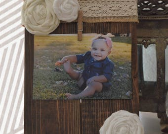 4x6 wood and lace picture frame
