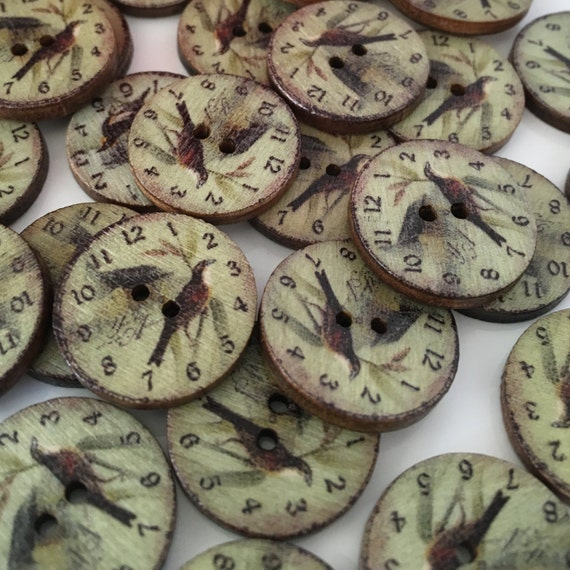 Vintage Wooden Buttons 43