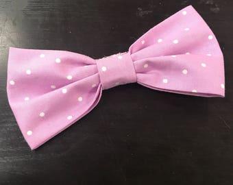 Men's Lilac Purple Pre-tied Clip-On Bow Tie