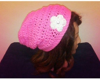 Hot Pink Slouchy Beanie/Hat