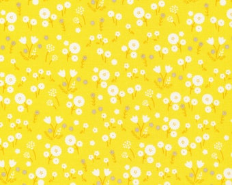 Marigold in Pollen - Stay Gold by Aneela Hoey - Cloud 9 Organic cotton fabric