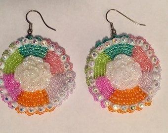 Powwow earrings beaded earrings