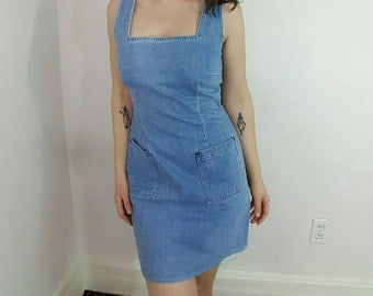 90s denim dress  Etsy