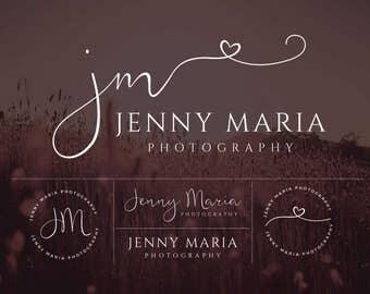 Heart Logo, Premade Logo, Logo Design, Branding, Heart Brand Design, Heart Logo Set, Calligraphy Logo, Photography Brand Design, Logo, Brand