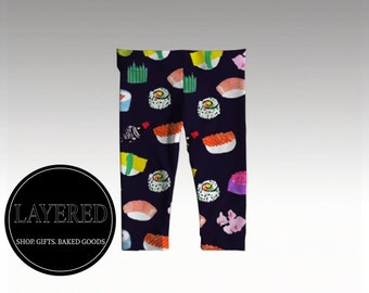 Sushi Dreams- Baby Leggings- Baby Clothes - Gender Neutral - Hipster Baby Clothes