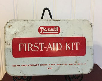 Rexall First Aid Advertising Tin