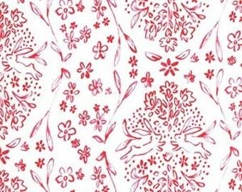 "Fabric Remnant - Sundborn in Picnic - Sommer - Michael Miller Fabrics - 18""x28"""