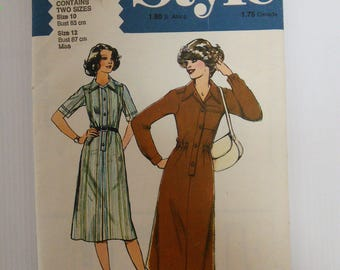Vintage Style 2289 Sewing Pattern - Button-Up Dress - Women's size 10/12 - Bust size 83/87 cm
