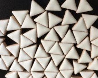 Triangle Ceramic Mosaic Tiles - White - 50g