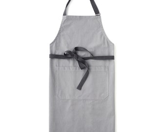 Light Gray Chef's Kitchen Apron (Regular Size)