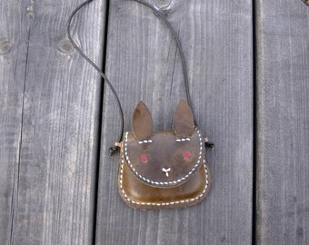 My first wallet, Toddler wallet, Pendant purse, Bunny Purse