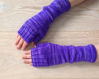 Hand-knitted fingerless gloves / Hand-knitted mittens / Fingerless mittens / Arm Warmers / Merino Wool / Hand-dyed yarn