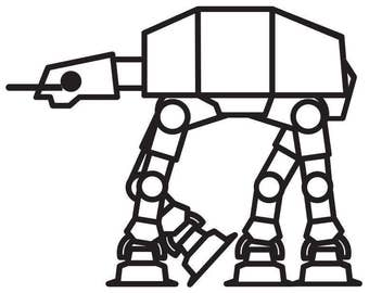 AT-AT Decal Star Wars Themed Decal
