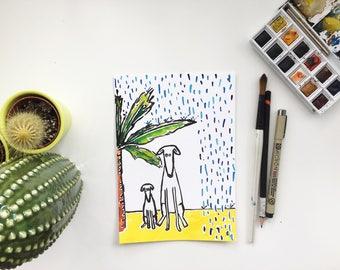 Original Dog painting, dog art, dog picture, dog watercolour, dog illustration, dog drawing, dog original, dog artist, puppy painting,