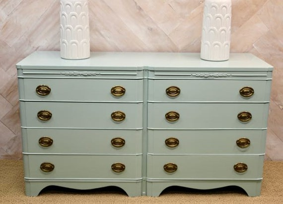 SOLD- Vintage dresser with new, lacquered finish
