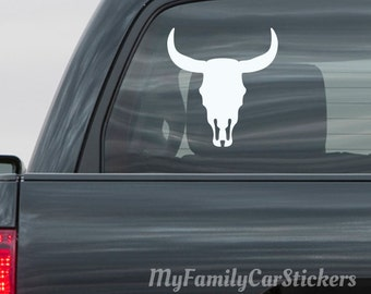 Bull Skull Vinyl Decal Sticker Bull Skull Car Decal Laptop Sticker