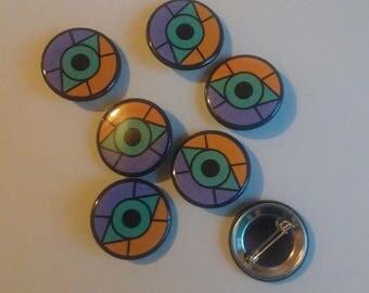 The Last Guardian Glass Eye Shield 1.25 Inch Pin Back Button