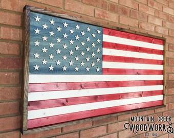 Wooden American Flag, American Flag, Wood American Flag, Rustic American Flag, Rustic USA Flag, Wooden US Flag, Vintage American Flag