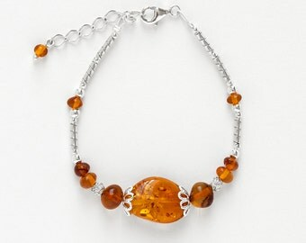 Bracelet Amber and Silver