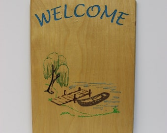Welcome (Dock/Boat) Sign