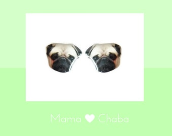 Sale - Pug earrings with free gifts, Dog Jewellery, cute animal jewelry, Ready to Ship, Made in Australia, Birthday Gift