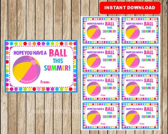 Genius image pertaining to have a ball this summer printable