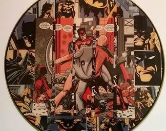 Batman Record Collage wall art (DC / Batman /record art / wall art / comic collage)