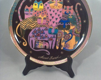 Collectible Plate Fabulous Felines by Laurel Burch Franklin Mint