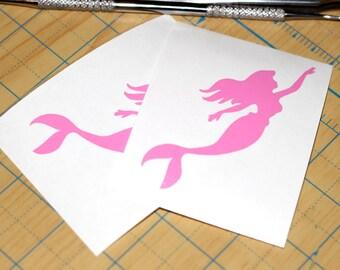 Mermaid Swimming Vinyl Sticker | Mermaid Decal