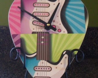 Giant Guitar Pick Clock