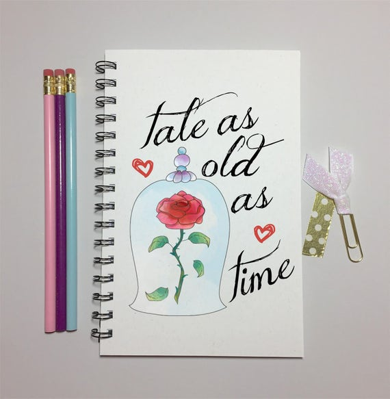 Tale As Old Time Beauty And The Beast Rose Journal